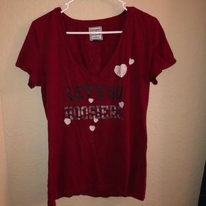 Hoosiers IU V-Neck T-shirt